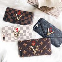 große harte brieftasche großhandel-Hülle für iPhoneX 8 8plus 7plus große V-Kartensteckdose für iPhone6 6plus-Hülle mit Kartentasche