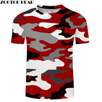 clothing camouflage shirts оптовых-Red camouflage Clothing Printed Tshirt Men Women Short Sleeve T-shirt  Top T shirt Funny Tees  Drop Ship