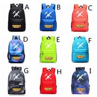 Wholesale college football games - 12 Colors 47*31*18 CM Fortnite Game Backpacks Casual Backpack Outdoors Bags Students School Bag Waterproof Large Capacity