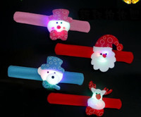 Pats Led for sale - Christmas Gift Led Christmas Pat Circle Bracelet Santa Claus Snowman Bear Deer Bracelet Toy XMAS Decoration Ornament