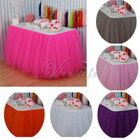 Wholesale custom birthday supplies for sale - Group buy Eco Friendly cm X cm Tulle Tutu Table Skirt Custom Wonderland Tulle Table Skirting Wedding Birthday Baby Shower Party Decoration