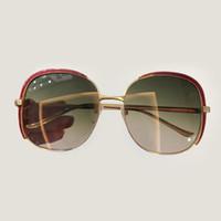 kahverengi kulüpler toptan satış-2019 Sıcak Satış Tasarımcı Pop Kulübü Moda Güneş Gözlüğü Erkekler Güneş gözlükleri Kadınlar Retro Yeşil gri kahverengi Siyah Cıva lens Yeni Menteşe 49mm 51mm