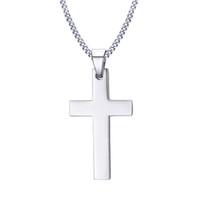 ingrosso collana di jesus nero-Gesù croce collana per gli uomini oro nero argento colore di buona qualità in acciaio inox ciondolo croce crocifisso maschile maschio gioielli collo di preghiera