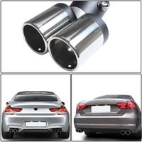 tubo de escape del coche al por mayor-Tubo de Escape de 150 MM de Acero Inoxidable Chrome Doble Escape Dual Cola Trasera Muffler Tip Pipe Al Por Mayor