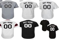 Wholesale Womens Xxl Shirt - Personalized Mens Womens Kids Toddlers Chicago White Jersey Customized Any name Number Grey Black Baseball Jerseys Shirt XS-6XL
