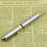 ingrosso fontana di lusso-Nuova penna stilografica di lusso Noble Golden And Silver M Nib