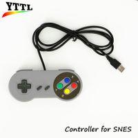 usb snes controller für pc großhandel-Großverkauf-Neuer Retro- klassischer USB-Prüfer-PC Steuerpult-Joypad-Steuerknüppel-Ersatz für SNES Windows MAC Großverkauf