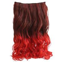 daldırma boyası uzantıları toptan satış-Dreamlike Kızlar için Saç Uzatma 20
