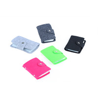 Wholesale travel cards for sale - Fashion Credit Card Holder Men Women Travel Cards Wallet Balck Buckle Business ID Card Holders Stowing Tidying