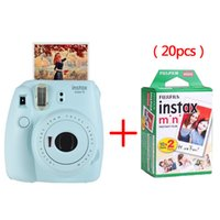 Wholesale fuji instax mini 7s film - Fujifilm Instax Mini 9 Instant Printing Camera With 20 Sheets Twin Pack Fuji Film Photo Paper for Mini 8 7s 25 50s 90