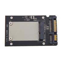 adaptador msata ssd usb venda por atacado-Gabinete de Alta Qualidade mSATA SSD para 2.5 polegada SATA Conversor Adaptador Cartão SSD Recinto Caso