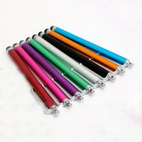 Wholesale Touch Screen Laptop Tablets - Solid color Portable Metal Paint Capacitive Universal Touch Stylus Pen For Tablets Laptop caneta touch screen phone hi12