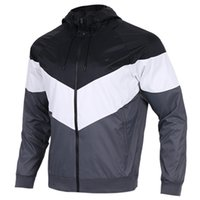 Wholesale jacket coat men new style - 2018 NEW style Men Women Sports Windbreaker Jackets 3 Colors Patchwork Contract Waterproof Jacket Zippers Up Coats free shipping 397