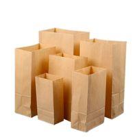 brotbeutel groihandel-Kraftpapier-Frühstückstaschen-Snack-Verpackungsbeutel-Backenbrot-Quadratlebensmittel-Papiertüte