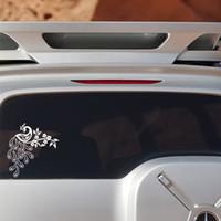 graphiques de voiture blanche achat en gros de-Personnalité attrayante Décalque de paon Autocollant Vinyle blanc Vinyle Amour mignon Camion de voiture SUV Cool Graphics