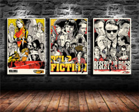 Wholesale dogs canvas oil paintings for sale - Group buy Reservoir Dogs Pulp Fiction Inglorious Basterds Pieces Canvas Prints Wall Art Oil Painting Home Decor Unframed Framed