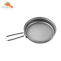 Wholesale handle diameter resale online - Toaks Titanium Frying Pan Cookware Set With Folding Handle Diameter mm Eco Friendly Ultraight Titanium Pan Pan