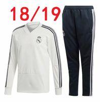 Wholesale adult sweater - thai quality 18 19 Real Madrid Soccer Tracksuit Jacket 2019 survetement Ronaldo Jogging camiseta de futbol Adults Training suit sweater