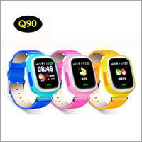Wholesale Kids Tracking Watches - Q90 Bluetooth Tracking Smartwatch Touch Screen With WiFi LBS for iPhone IOS Android SOS Call Anti Lost SmartPhone Children smart watch MQ20