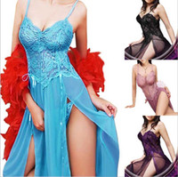 Erotic underwear explosions Sexy bud silk gauze straps long skirt Europe and the United States foreign trade large size