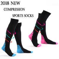 Wholesale best athletic socks - Compression Sports Socks for Men & Women Best Athletic Fit for Running Nurses Flight Travel & Maternity Pregnancy G503S