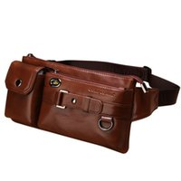 Wholesale Fashion New High Top Genuine Leather mens Women Waist bag Cycling Bags