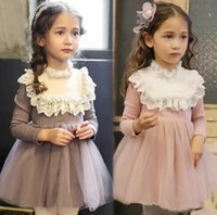 Wholesale winter western clothes for sale - Girls Ruffles Lace Tutu Sweet Princess Dress Western Baby Girls Lovely Tulle Children Dress Clothing B11