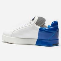 kaliteli erkek ayakkabı markaları toptan satış-Klasik erkek rahat ayakkabılar Lüks DERI PORTOFINO SNEAKERS Marka Tasarımcı ayakkabı Moda Yüksek kalite adam ayakkabı Boyutu 38-44 Modeli HZH5