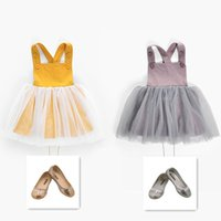 Wholesale girls tweed dress - Baby Belt Skirts Overalls With Jacobs Buttons Yellow Lotus Color Spring Summer Autumn Princess Dresses Toddler Girls Clothing 1-3T