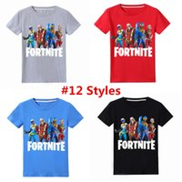 Wholesale teens summer clothes for sale - New Arrival Summer Fortnite kids T shirt For Teen Boy Girl Clothes Fortnite Battle Royale Kid Cotton T Shirt Top Children Boutique Tee