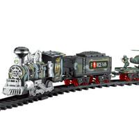klasik araba ışıkları toptan satış-Klasik Tren Seti ile Çocuklar için Duman Gerçekçi Sesler Işık Uzaktan Kumanda Demiryolu Araba Tren Noel Yeni YılHediye Oyuncak