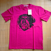 camiseta da rosa 3d venda por atacado-Roupas de marca de grife de moda t-shirt dar homens rosa Rottweiler 3D impressão de algodão casual camiseta mulheres tee tops camisas