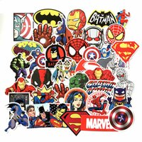 Wholesale laptop for windows online - 50Pcs Marvel Anime Classic Stickers Toy For Laptop Skateboard Luggage Decal Waterproof Funny Spiderman Stickers