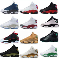 Wholesale Cheap New Basketball Shoes - Wholesale High Quality Cheap New 13 Men Basketball Shoes 13s XIII Bred Black Brown White Red Hologram Flints Women Sports Sneaker Size5.5-13