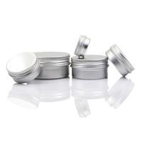 контейнеры для бальзама для губ оптовых-Пустые Алюминиевые Контейнеры для Бальзама Для Губ Косметические Кремовые Баночки Оловянные Ремесла Горшок Бутылка 5 10 15 30 50 100г