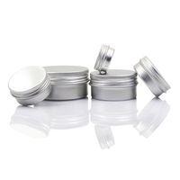 kavanoz krema kap toptan satış-Boş Alüminyum Dudak Balsamı Konteynerler Kozmetik Krem Kavanoz Kalay El Sanatları Pot Şişe 5 10 15 30 50 100g