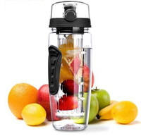 Wholesale infuse bottle resale online - 32oz Fruit Infuser fruit Bottle water bottle juice Fruit Infusing Infuser Water Bottle Sports Camping Bottles KKA4251