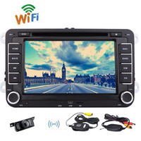 Wholesale wireless dvd player mp3 online - Wireless Reversing Camera EinCar Android Car DVD Player for VW PASSAT CC PASSAT Golf Capacitive Touch Screen Double Din Car Stereo