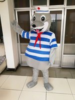 Wholesale Lion Mascot Costumes Adults - high quality Real Pictures Deluxe Sea lion monster mascot costume Adult Size free shipping