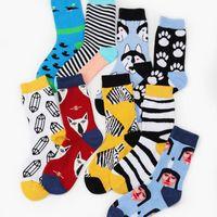 девушка красочные носки оптовых-Women's Socks Japanese Cotton Colorful Cartoon Cute Funny Zebra Duck  Bear Socks for Girls Christmas Gift Sport