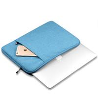 сумки macbook pro 13 сетчатки оптовых-Новые мягкие ноутбук рукав сумка защитная молния ноутбук чехол компьютер чехол для 11 13 15 дюймов для Macbook Air Pro Retina