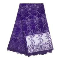 kadınlar için yeni gelinlik toptan satış-Sıcak Yeni Kumaş ve Dikiş Supplie DIY 6 Renkler Kadınlar Dantel Elbiseler Nakış Afrika Dantel Gelinlik Parti Tül Mesh Dantel Elbiseler