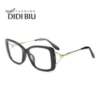 óculos de borboleta claros venda por atacado-Senhoras Elegante Borboleta Óculos de Armação Clara Lente Das Mulheres Da Marca Original Espetáculo Branco Leopardo Vermelho Miopia Óptica Óculos WN995
