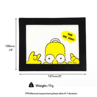 Simpson Food grade small non-stick slick oil silicone mat dab bho wax mat with silicone and fibreglass construction