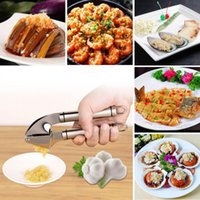 Wholesale stainless steel garlic presses squeeze for sale - Group buy Multifunctional Stainless Steel Manual Hand Squeeze Garlic Press Crushing Ginger Nut Crackers Cooking Tools Kitchen Accessories