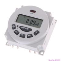 zaman rölesi toptan satış-DC12V AC220V Dijital LCD Haftalık Programlanabilir Zaman Anahtarı Röle Elektronik Zamanlayıcı