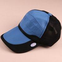 hızlı kurulama kapağı toptan satış-Erkekler ve kadınlar için çabuk kuruyan şapkalar yaz işlemeli beyzbol şapkası kap açık gölge güneş kremi güneş net kap