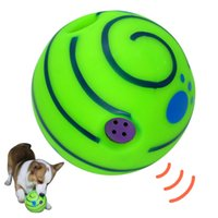 Wholesale toys tools for sale - 15cm Wobble Wag Giggle Ball Dog Play Ball Training Tool Sport Pet Cat Puppy Toys With Funny Sound AAA827