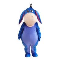 ingrosso spettacolo di compleanno-Il costume adulto di manifestazione del partito di compleanno di Halloween di natale di Halloween del costume della mascotte di Eeyore di dimensione del vestito adulto libera il trasporto