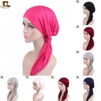 Wholesale soft scarves for sale for sale - Fashion Modal Cotton Chemo Hat For Women Elastic Muslim Bandanas Soft Breathable Turban Head Scarves Hot Sale gf BB